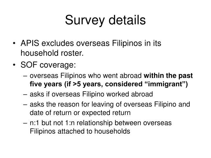 Survey details