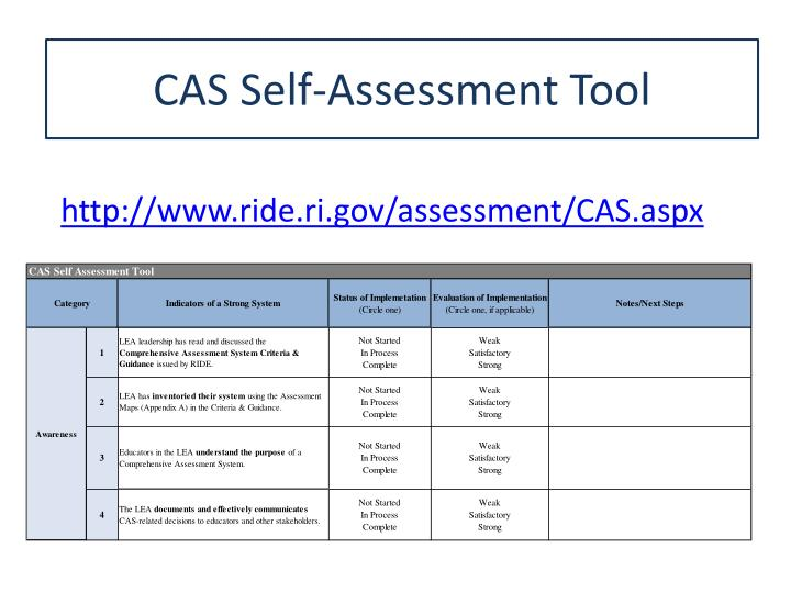 CAS Self-Assessment Tool