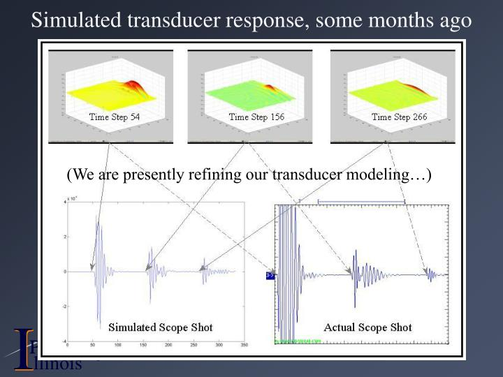 Simulated transducer response, some months ago