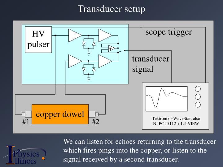 Transducer setup