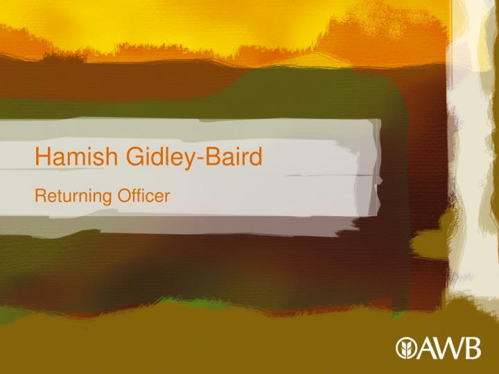 Hamish Gidley-Baird