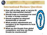 international business questions