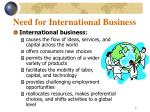 need for international business1