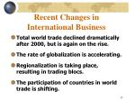 recent changes in international business