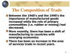 the composition of trade