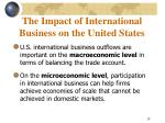 the impact of international business on the united states