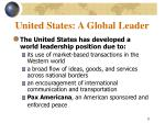 united states a global leader