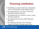 pioneering contributions