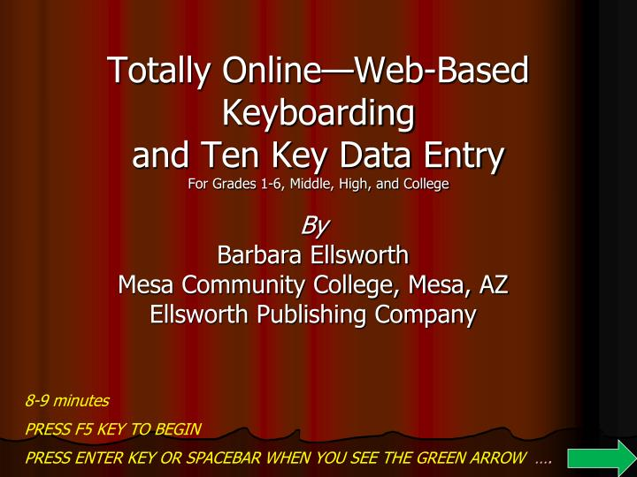 totally online web based keyboarding and ten key data entry for grades 1 6 middle high and college n.