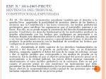 exp n 1014 2007 phc tc sentencia del tribunal constitucional infundada