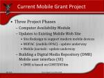 current mobile grant project
