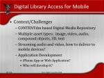 digital library access for mobile