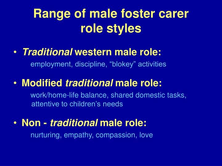 Range of male foster carer