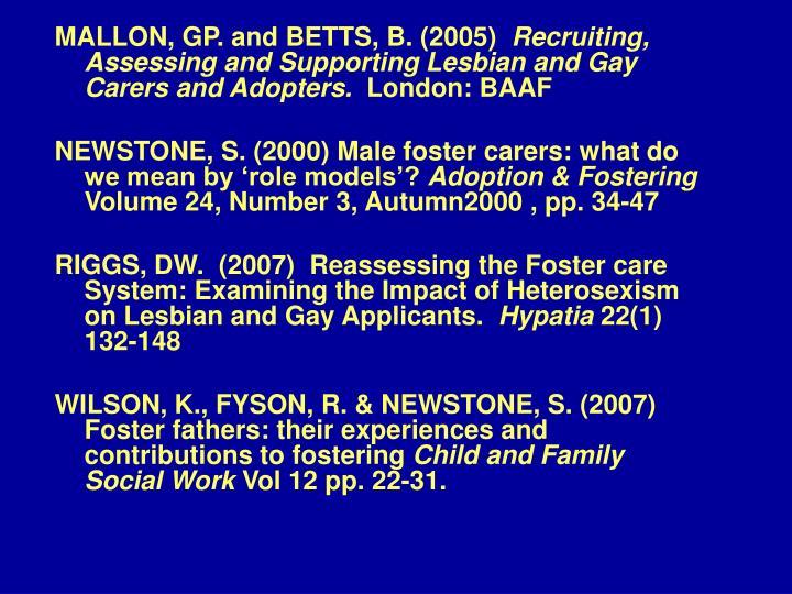 MALLON, GP. and BETTS, B. (2005)