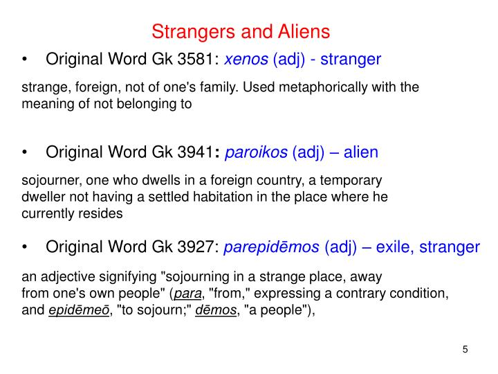 Strangers and Aliens
