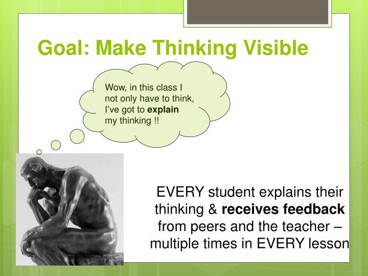 Goal: Make Thinking Visible