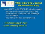 vinis video dvd booklet site intervention study