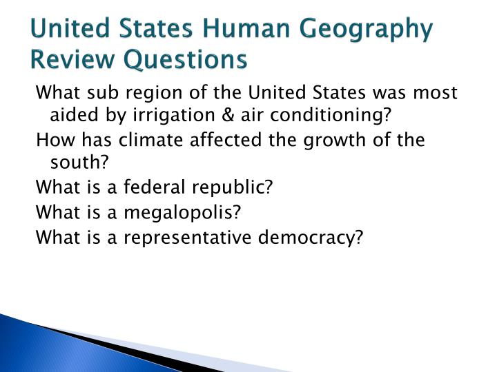 PPT - World Geography United States & Canada Notes