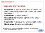 purposes of evaluation