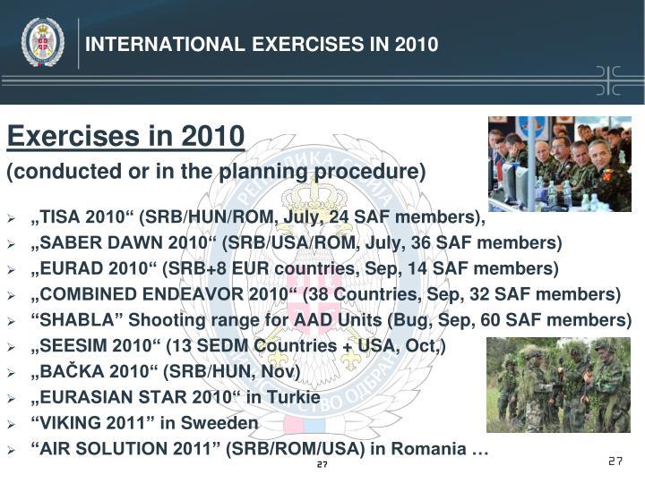 International Exercises in