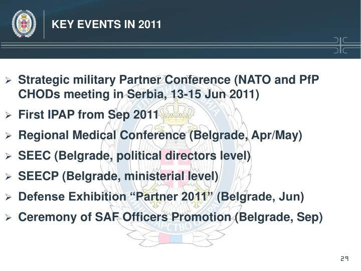 Key Events in 2011