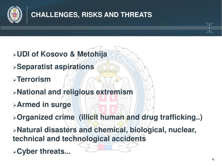 CHALLENGES, RISKS AND THREATS