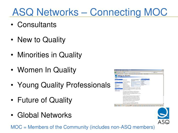 ASQ Networks – Connecting MOC