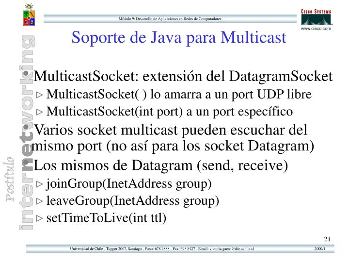 Soporte de Java para Multicast