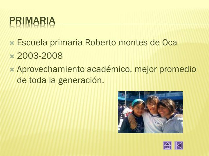 Escuela primaria Roberto montes de Oca