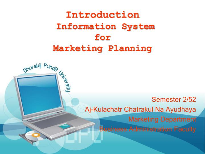 introduction information system for marketing planning n.