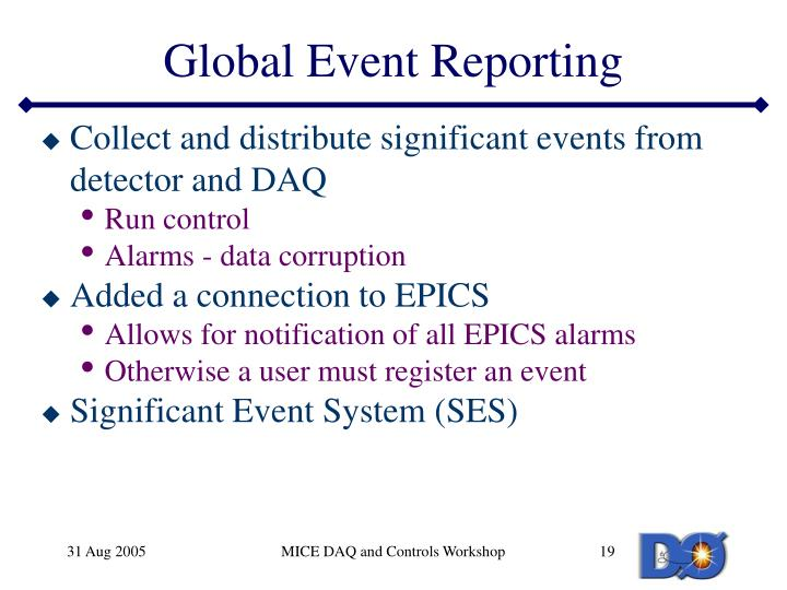 Global Event Reporting