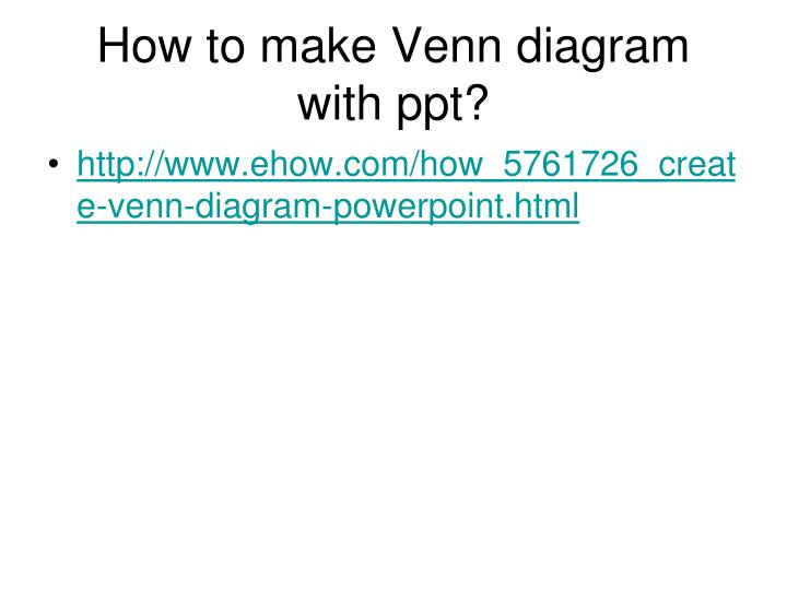 How To Make Venn Diagram With Ppt