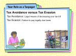 tax avoidance versus tax evasion