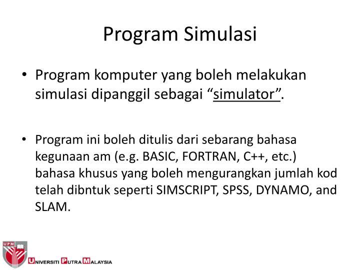Program Simulasi