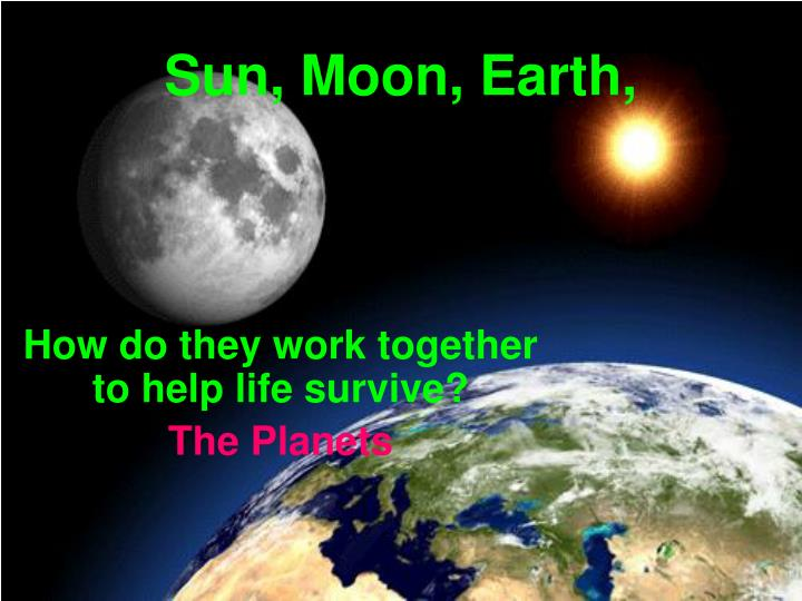 how do they work together to help life survive the planets n.