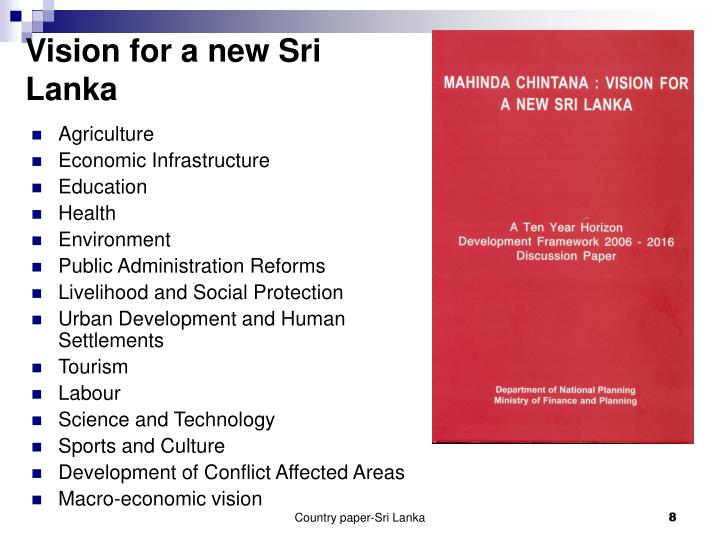 Vision for a new Sri Lanka