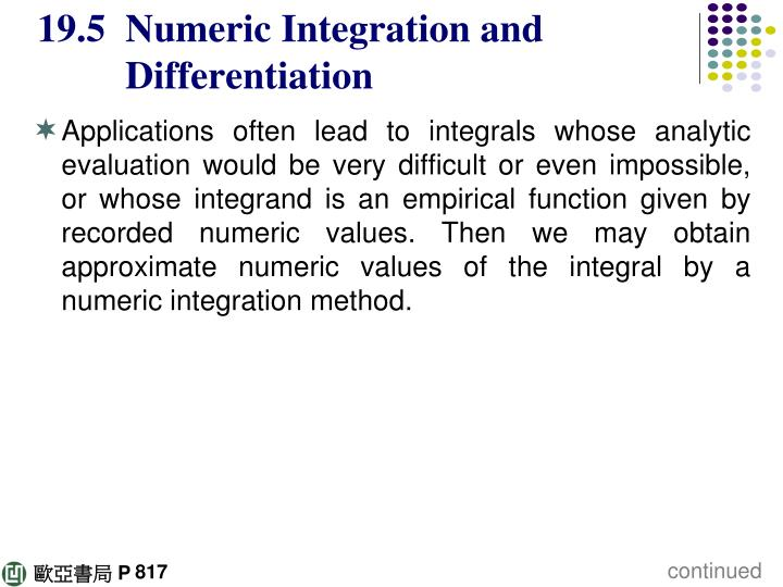 19 5 numeric integration and differentiation n.