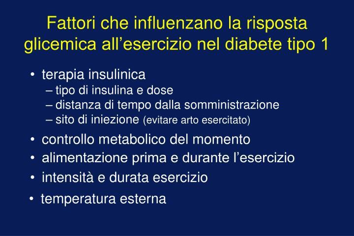 Fattori che influenzano la risposta glicemica all'esercizio nel diabete tipo 1