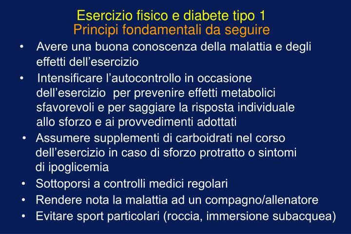 Esercizio fisico e diabete tipo 1