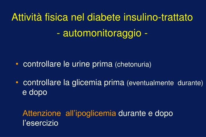 Attività fisica nel diabete insulino-trattato
