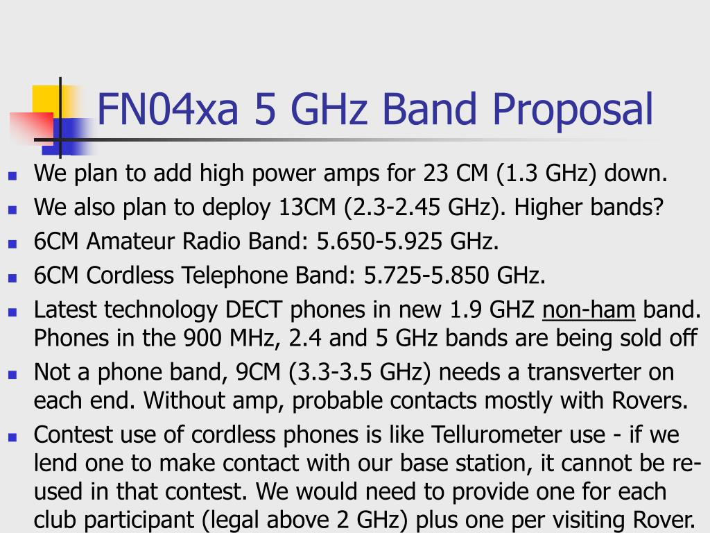 PPT - FN04xa 5 GHz Band Proposal PowerPoint Presentation