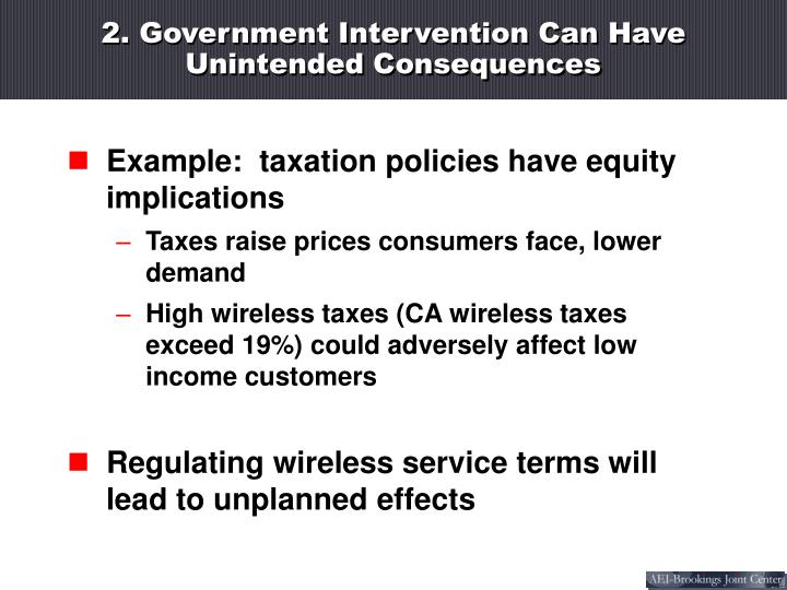 2. Government Intervention Can Have Unintended Consequences