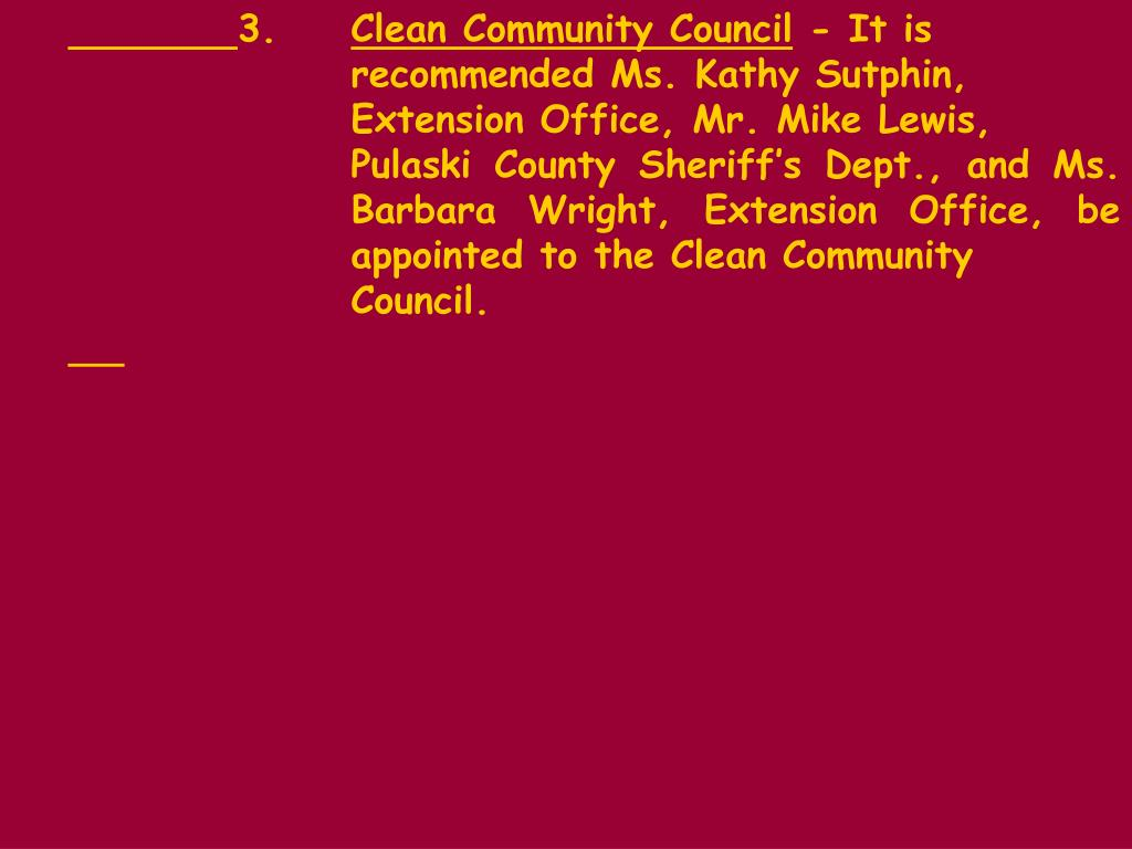 PPT - Citizens comments are included on each regular monthly