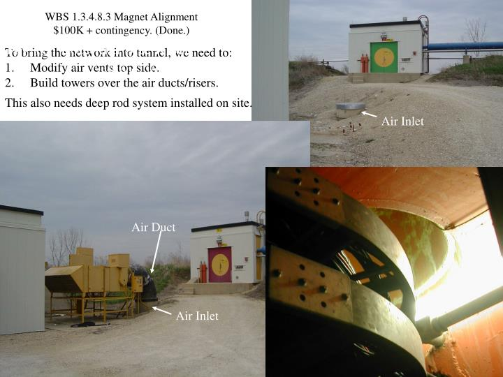 WBS 1.3.4.8.3 Magnet Alignment