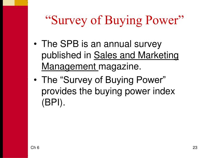 buying power index by city