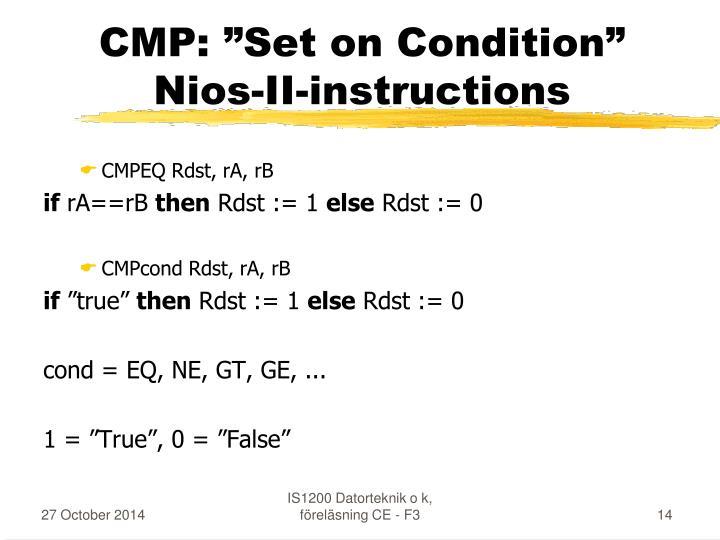 "CMP: ""Set on Condition"""