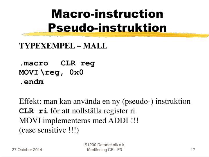Macro-instruction
