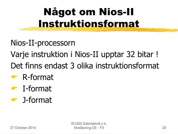 Något om Nios-II