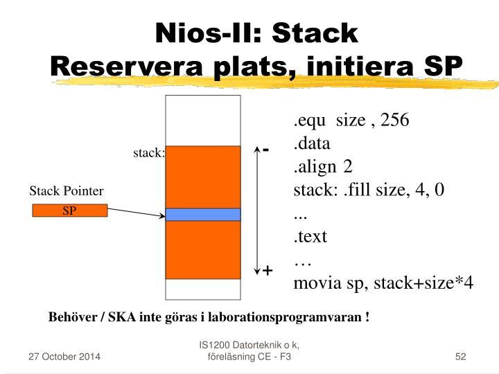 Nios-II: Stack