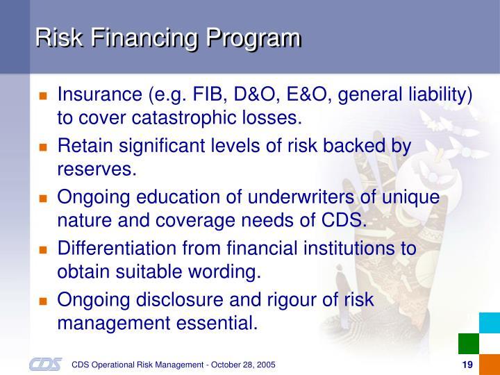 Risk Financing Program